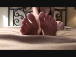 Teen emma massaging and showing off her feet