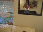 Amateur college teen stripping in mirror self shot video